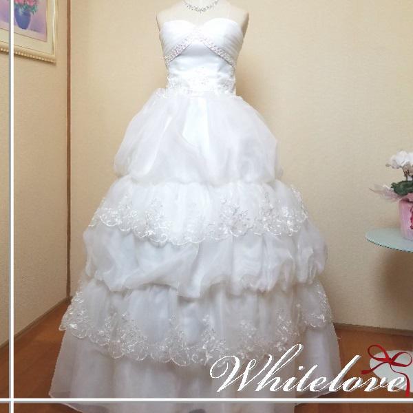 7ee5ed925b74c ウェディングドレスプリンセスライン花嫁二次会結婚式披露宴挙式新婦ウエディングドレスロングドレス大きい