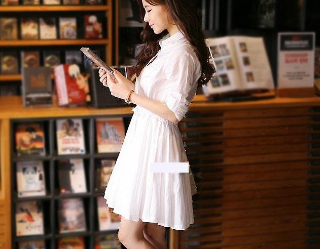 c4e4d90d0b1a8 レディースワンピース服白ワンピース長袖レディースファッションワンピースファッション送料無料可愛いシャツワンピ清楚