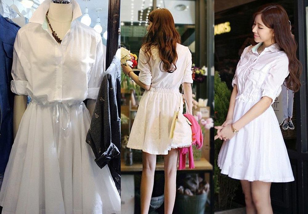 b4008e5f81365 レディース ワンピース 服 白ワンピース 長袖 レディースファッション ワンピースファッション 送料無料 可愛い シャツワンピ 清楚