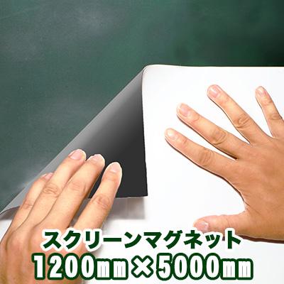 スクリーンマグネット 1200mm×5000mm マットタイプ 1200mm×5000mm(1m20cm×5m)【日本製】【映写用】