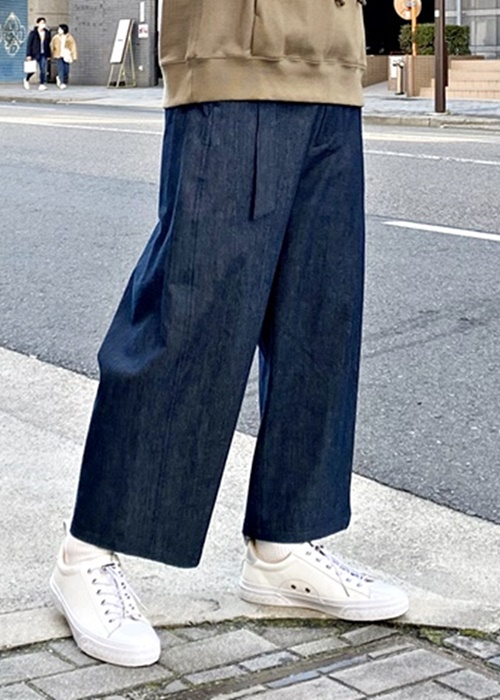 Wizzard(ウィザード) WIDE BELTED PANTS DENIM