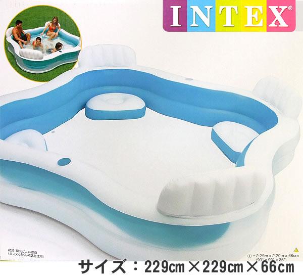 INTEX公司製造遊泳中心家庭休息室遊泳池(229cm*229cm*66cm)56475
