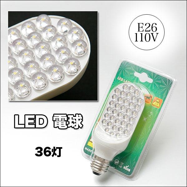 單雙面 LED 燈泡點亮 36 (白色) e26