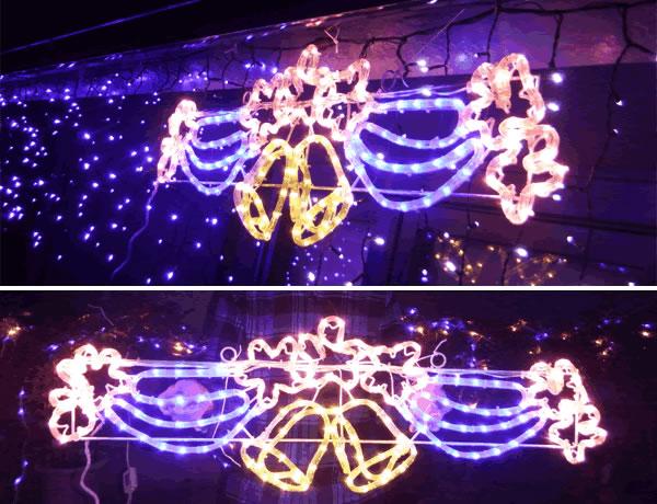 [処分特価]LEDイルミネーション(さくらベル)■桜のモチーフライト