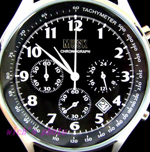 麝香 (musk) 計時碼錶 (蒙脫土-019)