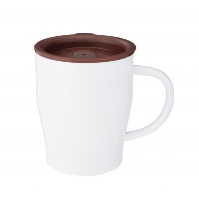 真空ステンレスマグカップ(ホワイト)(@449円税別 72個単位 メーカー直送品 代引き不可・時間指定不可)