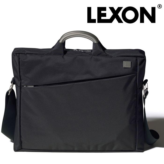 供LEXON文獻包LN327N列克損失包包人男性使用的男人紳士個人電腦筆記型電腦法國佛設計師輕保證分類間壁黑黑色商務出差工作庸人打算的人砰一聲拉父親節禮物禮物漂亮的名牌排名