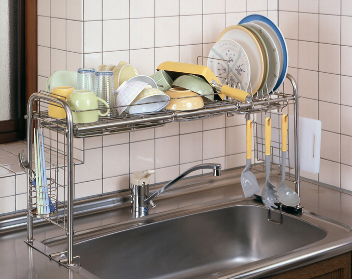 ... Telescopic Universal ☆ Kitchen And Kitchen Sink Storage Rack Kitchen  Supplies Kitchen Drainer (body