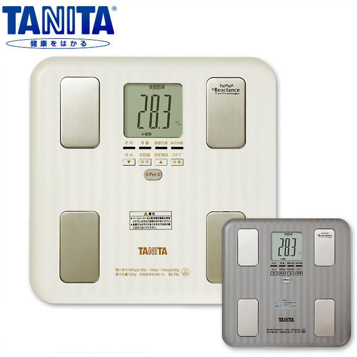 タニタ体組成計インナースキャン BC-755 TANITA 体脂肪計付き アイボリー グレー 体重計 タニタ 体組成計 TANITA インナースキャン 内臓脂肪 5人まで登録 健康管理 ペット 体脂肪 多機能