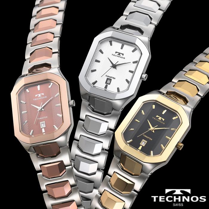テクノス スクエアタングステン 【暮らしの幸便 カタログ掲載 74200】 テクノス TECHNOS watch 腕時計 スクエアタングステン うでどけい コンビ シルバー ピンク ドレスウォッチ 女性 シルバー ウォッチ ステンレス スイス T9353 05P03Sep16
