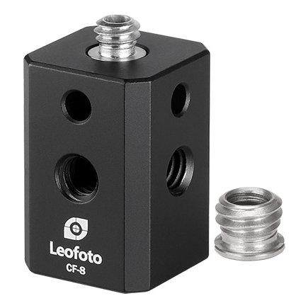 1 4 or 3 8インチ規格凸ネジ→1 4インチ規格凸ネジx1個 4インチ規格凹ネジx4個に変換可能なアダプタ 本日限定 25%OFF CF-8 レオフォト Leofoto カメラ取付ネジ変換アダプター