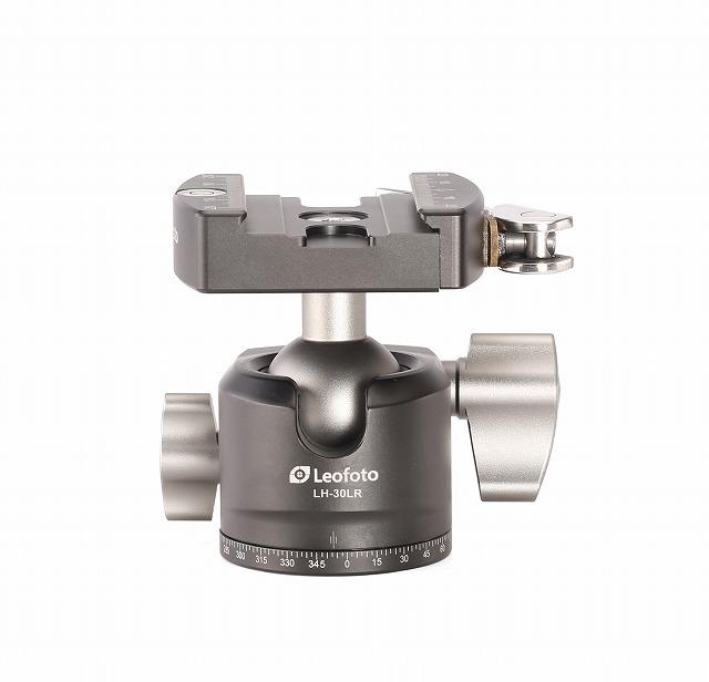 ボール直径30mm(レバータイプ)。操作ノブはボールロック、パンニングの全2個。水準器、アルカスタイルプレート付属。[ カメラ 一眼レフ ミラーレス 3/8 1/4 取付ネジ 規格 ] Leofoto 自由雲台 LH-30LR+NP-50 ボール径30mm レバーリリース方式 クイックリリースプレート付属 アルカスイス互換 レオフォト 送料無料