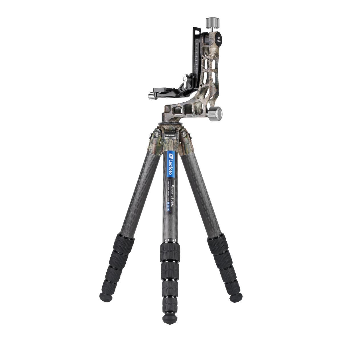Leofoto カーボン三脚+ジンバル雲台セット LS-365C+PG-1(C) カモフラージュ 5段 脚径36mm レンジャーシリーズ 迷彩 レオフォト 送料無料