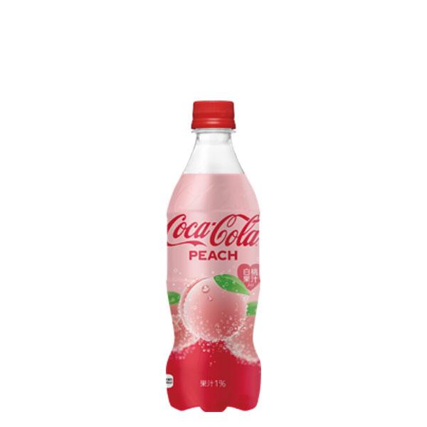 24部可口可樂桃子500mlPET的1箱