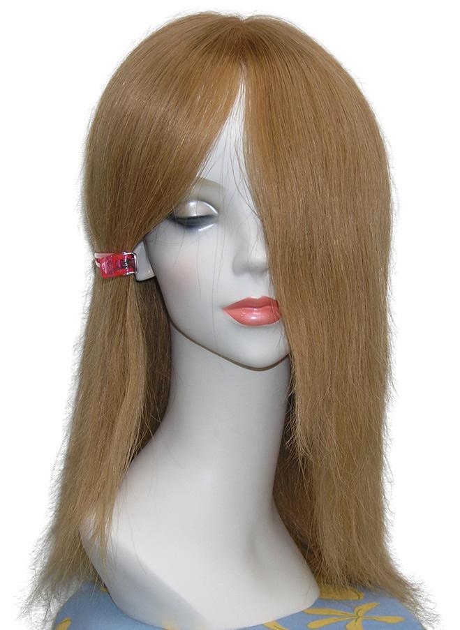 レミーヘアー金髪ウィッグ25cm。人毛100%総手作りウィッグです人毛ですから色々なヘアーアレンジが楽しめます。色々チャレンジして、楽しんで下さい!