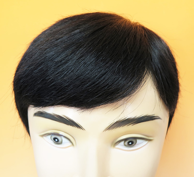大きいサイズ22cm×22cm・左パート・ミックス・カット済み。人毛と耐熱人工毛のミックスで取り扱いが簡単です。
