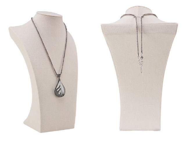 29cm jewelry stability type hemp hemp linen natural writer necklace necklace ring stands display torso CT-12
