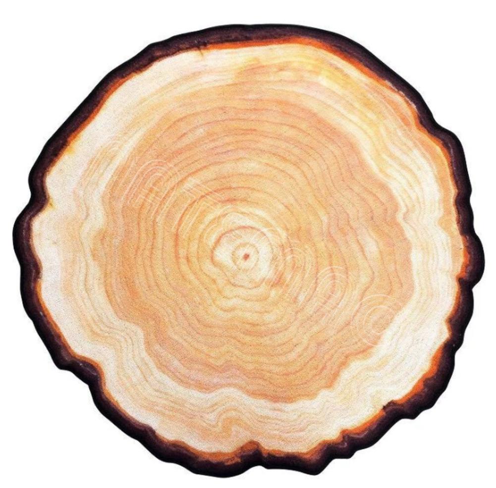 【楽天市場】【直径120cm 120サイズ】丸太 木 年輪 地球 月 惑星 石 鉱石 ラグマット カーペット 絨毯