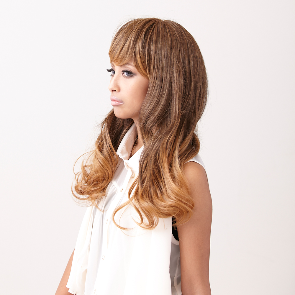 / wig / wig /wig/ heat resistance / extension / full wig // long /MANE (Maine) /M-FW005/ gradation / long wave / wig in bloom / mode / hair arrangement / wig
