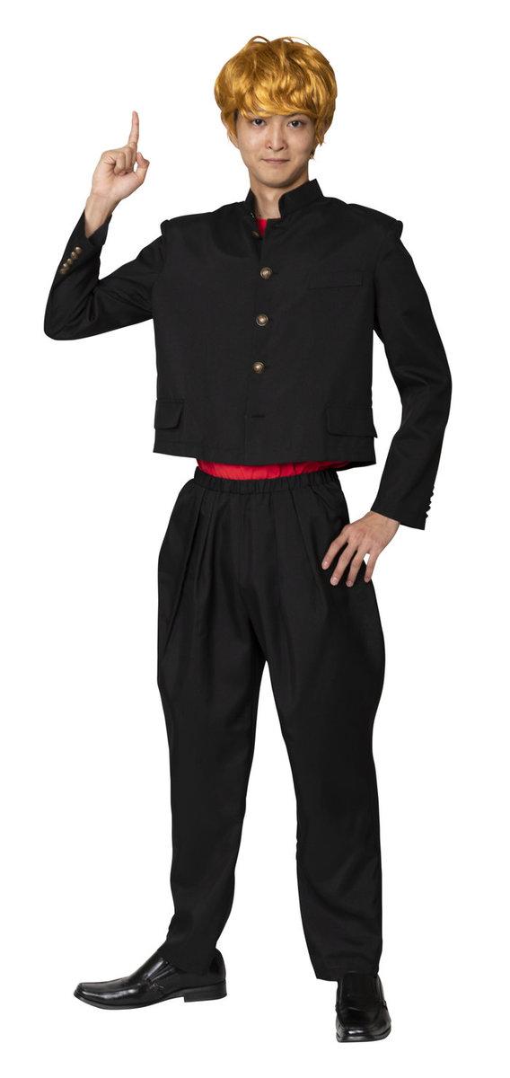 送料無料 今日のヤンキー短ラン メンズ コスチューム コスプレ 衣装 昭和 仮装