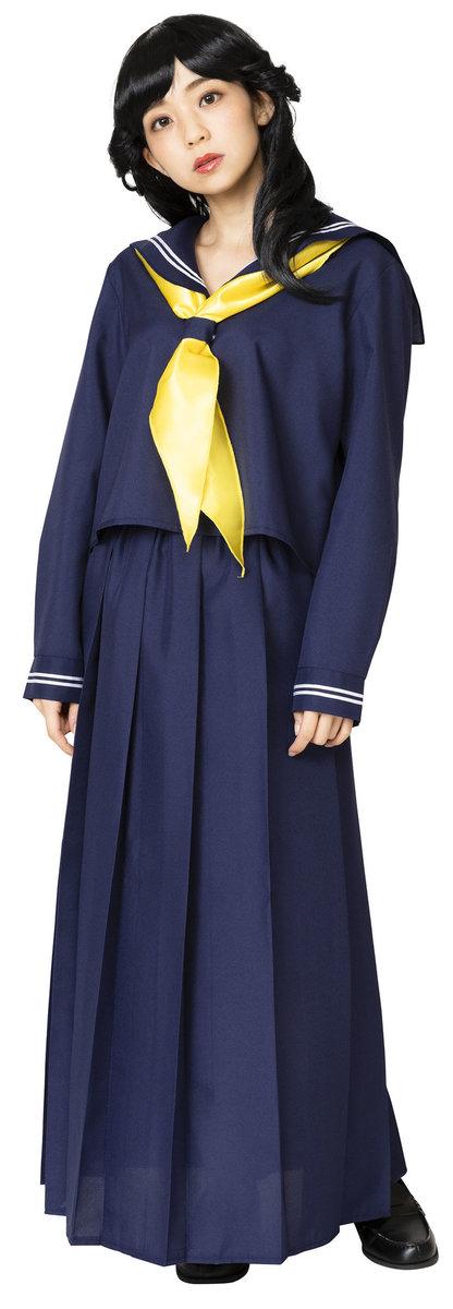 送料無料 今日のネイビーセーラー レディース コスチューム 昭和 仮装 コスプレ 衣装 スケバン
