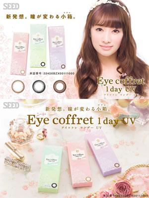 [彩色隱形眼鏡] Eye coffret 1day UV Rich make(Brown)(使用週期:每日 | 計價單位:10片/盒)
