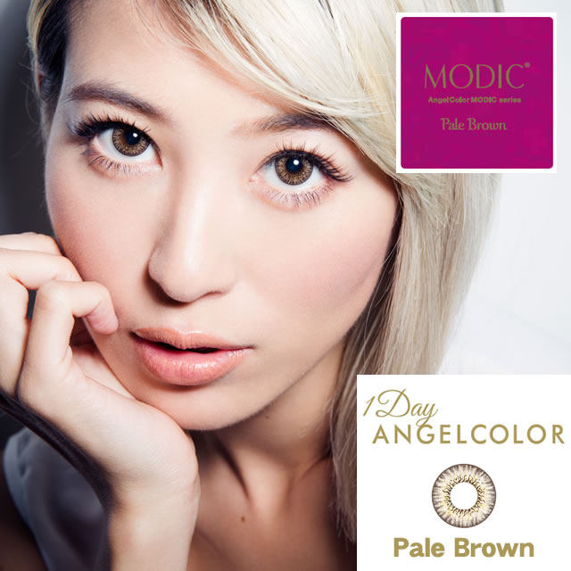 [컬러 렌즈]AngelColor Dailies MODIC Pale Brown(사용 기간:1일/ 내용량:10 장 / 상자*2 상자)