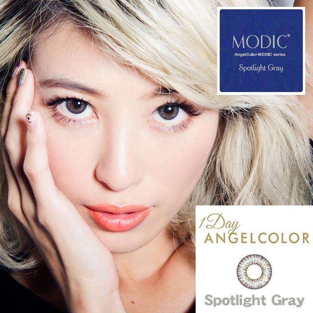 [컬러 렌즈]AngelColor Dailies MODIC Spotlight Gray(사용 기간:1일 / 내용량:30 장 )