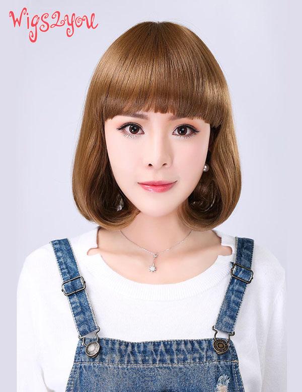 【Wigs2you】ウィッグ 簡単着用 巻き髪 耐熱 日本製高級ファイバー使用 W-1025 フルウィッグ ミディアム 最高級 ナチュラル かつら 女装 内巻き 小顔 コスプレ