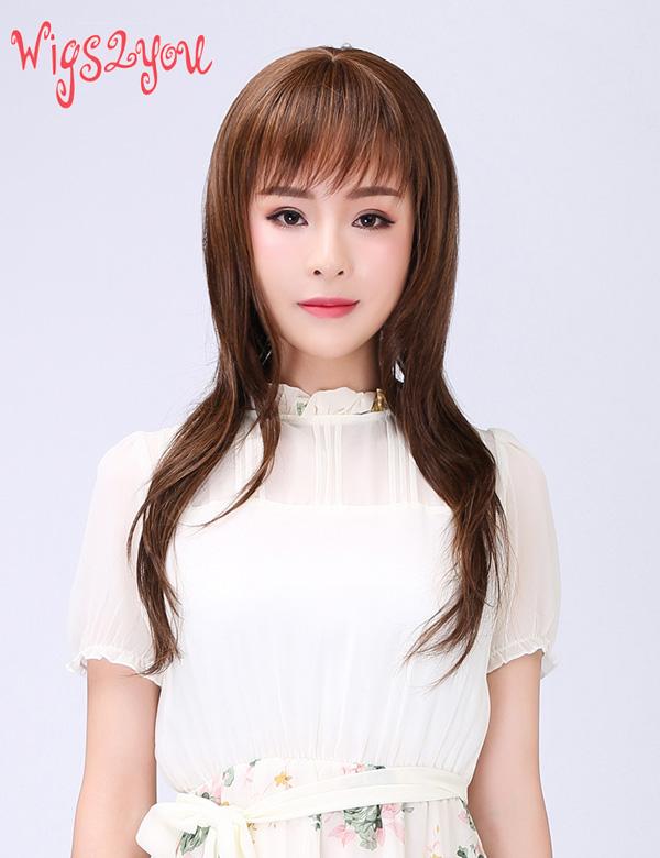 【Wigs2you】サラつや ロング ウィッグ 簡単着用 日本製高級ファイバー使用 W-244 フルウィッグ 最高級 ナチュラル かつら 女装 小顔 結婚式 うぃっぐ 普段使い 美容用品 大人気