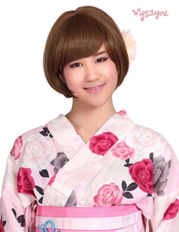 【Wigs2you】ボブウィッグ 簡単着用 耐熱 日本製高級ファイバー使用 W-1002 フルウィッグ ミディアム ボブ 最高級 ナチュラル かつら 結婚式 成人式 小顔 女装 パッツン前髪 医療ウィッグ【BOX受取対象商品】