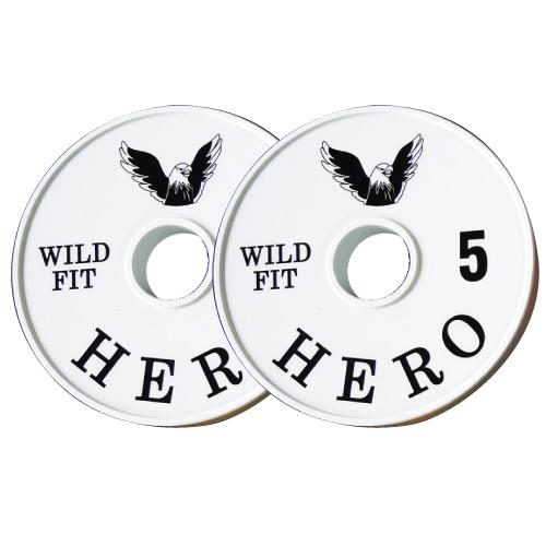 【オリジナルブランド】HEROメタルプレート5kg[2枚組][WILD FIT ワイルドフィット] ダンベル バーベル オリンピック 筋トレ トレーニング 腹筋 上腕筋 大胸筋 ベンチプレス