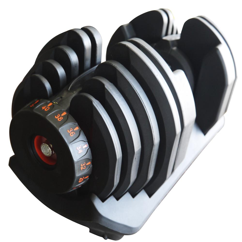 アジャスタブルダンベル40kg 2本(両手)[WILD FIT ワイルドフィット]送料無料 ダンベルセット 可変式 トレーニング器具 筋トレ 負荷調整 重量調節