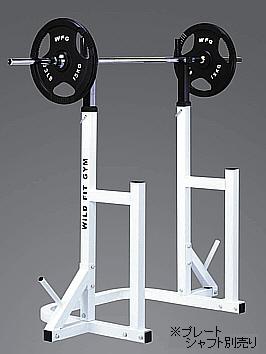 スクワットスタンド[WILD FIT ワイルドフィット] 送料無料 筋トレ バーベル ウエイト トレーニングマシン 自宅 下半身 胸筋 腹筋