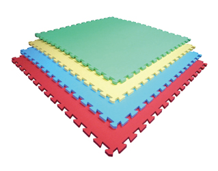 抗菌性 国産ジョイントマット/1枚 全4色 青・赤・黄・緑/EVAマット[WILD FIT ワイルドフィット] フロアマット フィットネスマット