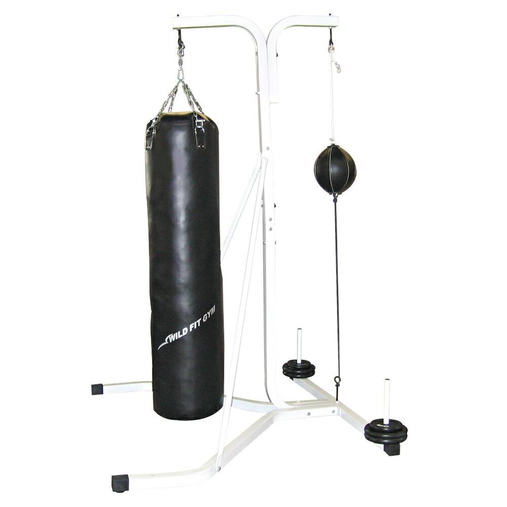 Yベースサンドバッグセット 40X150cm 黒(代金引換不可商品)[WILD FIT ワイルドフィット]自宅 中身 安定性 筋トレ 重さ 送料無料 ボクシング キックボクシング フィットネス