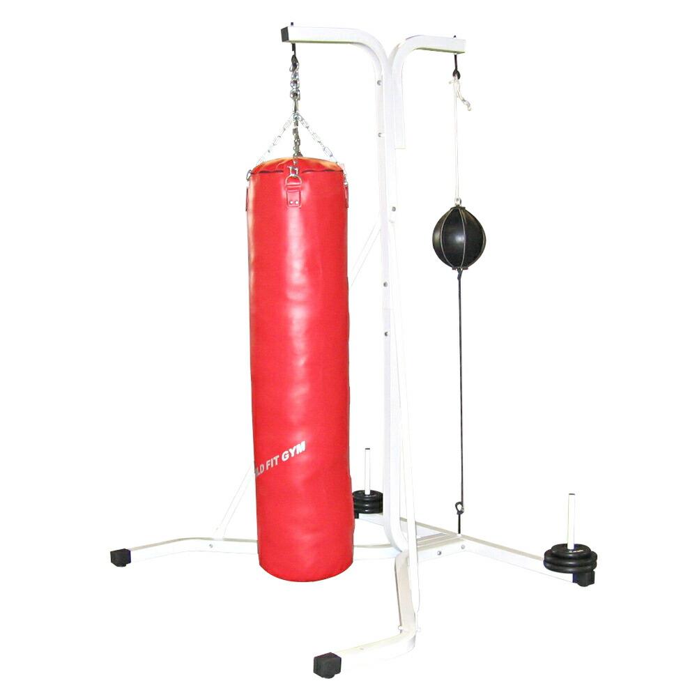 Yベースサンドバッグセット 40X150cm 赤(代金引換不可商品)[WILD FIT ワイルドフィット] 自宅 中身 安定性 筋トレ 重さ 送料無料 ボクシング キックボクシング フィットネス