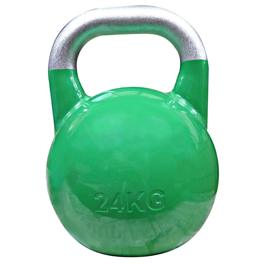 JKA公認ケトルベル 24kg グリーン[WILD FIT ワイルドフィット] 送料無料 ウエイト トレーニング ダンベル 筋トレ 握力