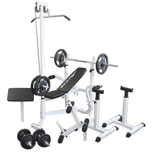 マルチセーフティージムセット アイアン100kg[WILD FIT ワイルドフィット] 送料無料 バーベル ベンチプレス トレーニング器具 スクワット 大胸筋 腹筋