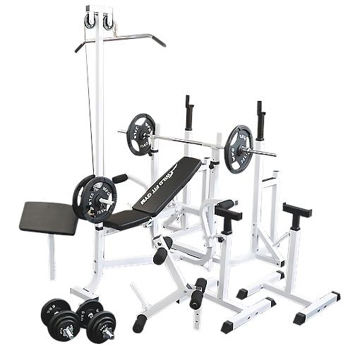 マルチフルセット アイアン100kg[WILD FIT ワイルドフィット] 送料無料 バーベル ベンチプレス トレーニング器具 スクワット 大胸筋 腹筋