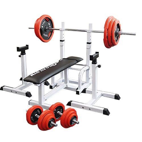 フォールディングジムセット 赤ラバー140kg[WILD FIT ワイルドフィット] 送料無料 バーベル ダンベル ベンチプレス トレーニング器具 大胸筋 腹筋 上腕筋