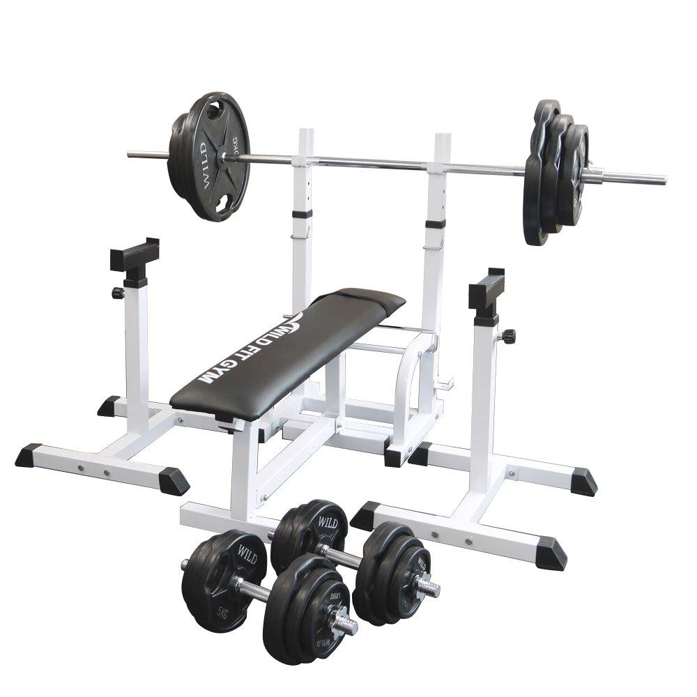 《一部後送りあり》フォールディングジムセット ベンチプレス 黒ラバー140kg[WILD FIT ワイルドフィット] 送料無料 送料無料 バーベル ダンベル 腹筋 ベンチプレス トレーニング器具 大胸筋 腹筋 上腕筋, AUTOMAX izumi:7565f4a4 --- atbetterce.com
