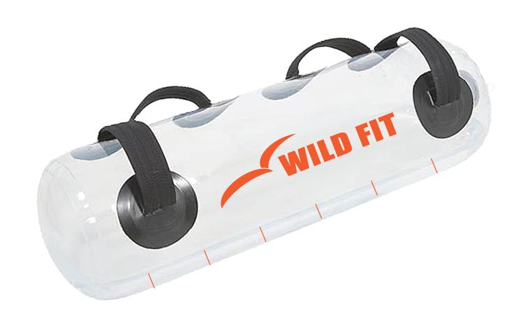 ウォーターバッグ63kg 透明(専用水栓コック・空気ポンプ付)[WILD FIT ワイルドフィット] 体幹 筋トレ 送料無料 アクアバッグ クリア スケルトン ラグビー アメフト