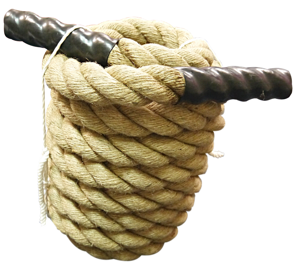 トレーニングロープ Φ50mm 麻(フック無)[WILD FIT ワイルドフィット] 送料無料 ジムロープ スイングロープ アスリート 基礎 体幹
