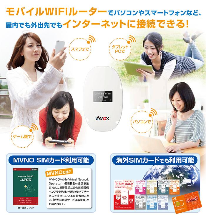 無SIMM 3G手機Wi-Fi路由器AVOX AWR-100TK黑色