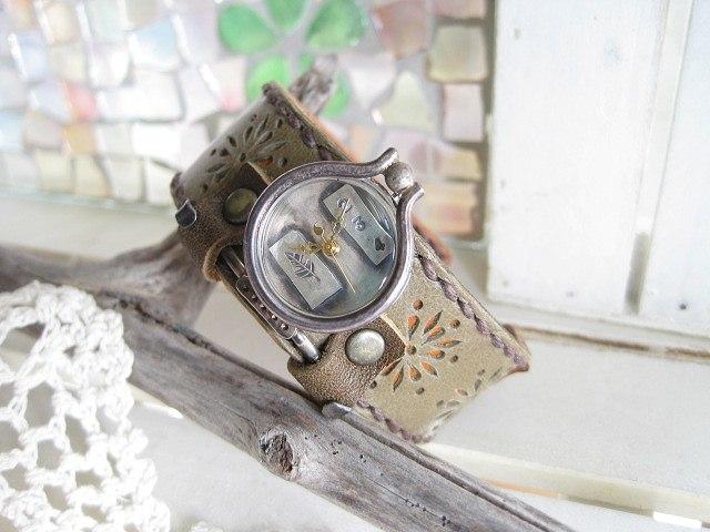 腕時計 レディース 手作り アンティーク JHAハンドクラフトウォッチ 手作り時計 プレゼント ギフト 日本製 送料無料