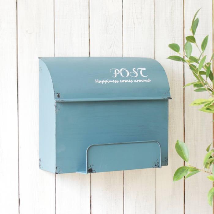 限定品 レトロアンティークな加工を施したお洒落なポストです ポスト 郵便受け メールボックス 郵便ポスト おしゃれ 壁掛け 激安通販販売 壁付け 置き型 玄関 BOX エントランス MAIL 蓋 インテリア POST 雑貨 箱