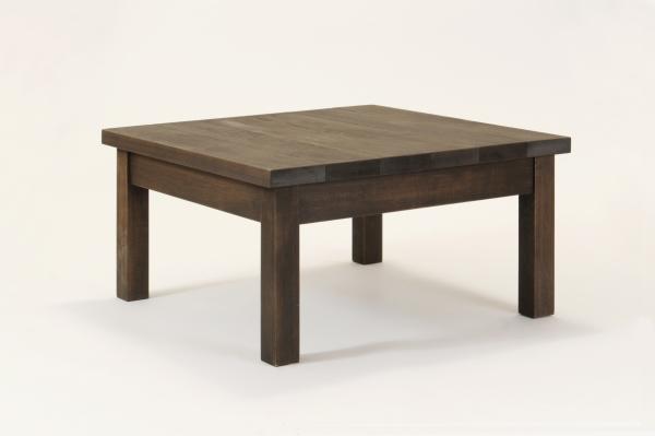 匠のガーデンテーブル・60cm×60cm×希望高さ(30~40cm)(色:ブラウン)ヒバ材【無垢材・天然木製】【ローテーブル】【完成品】