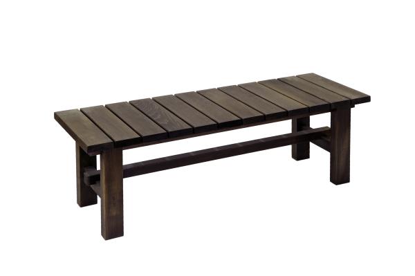 匠がひとつひとつ手作りします。無垢材使用。重厚感あふれるベンチ板厚30ミリ!完成品♪ 匠の縁台 横幅120cm(色:ブラウン)【木製 ベンチ ステップ 踏み台 屋外 おしゃれ ベランダ 完成品 日本製 送料無料】