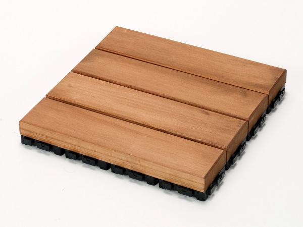 匠手作りのベランダガーデン向けウッドデッキ 送料無料 ウッドデッキ匠 樹脂ジョイント付 30cm×30cm×厚み4cm 色:チーク 新作 人気 12枚以上1枚単位で必要数購入可能です 気質アップ 天然木製 ウッドパネル 日本製 おしゃれ ベランダ ベランダガーデン